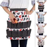 Egg Collecting Apron Pockets Hold Chicken Farmhouse Home Kitchen Waterproof HOT