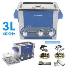 3L Lavatrice Pulitore ad Ultrasuoni Pulizia Pulitrice con Cesto Timer Heater HOT