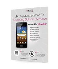 3x Displayschutzfolie für Samsung Galaxy S Advance I9070 Schutzfolie Clear Klar