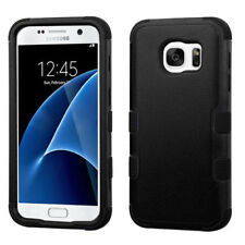 For Samsung GALAXY S7 Thin Hybrid Slim Rubber Hard Protective Black Case Cover