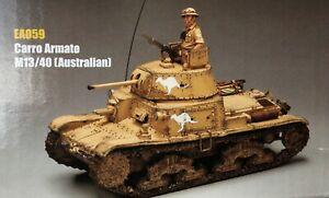 KING & COUNTRY CARRO ARMATO M 13/40 CAPTURED AUSTRALIAN TANK NORTH AFRICA 1/30
