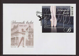 Slovenia 2018 FDC - 100 Years Slovenian Ballet - with m/sheet