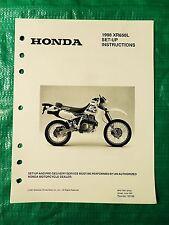 Genuine Honda Set-Up Instructions Manual 7667-9704 1998 XR650L XR650 L '98