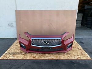 INFINITI Q50 2014-2017 OEM FRONT BUMPER COVER WITH PDC SENSORS (RED/ COMPLETE)
