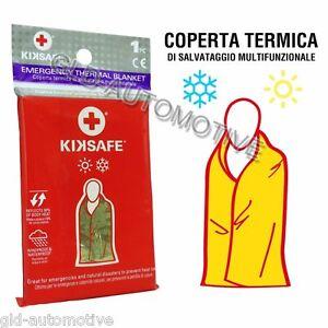 COPERTA ISOTERMICA Termica Protezione Freddo Caldo Emergenza Salvataggio Kiksafe
