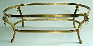 MCM Hollywood Regency Ram Head Coffee Table Brass