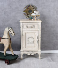 BEDSIDE TABLE SHABBY CHIC CHEST OF DRAWERS WHITE CONSOLE TABLE CABINET VINTAGE