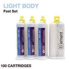 Element LIGHT BODY VPS PVS Impression Material FAST Set 100 X 50ML Dental