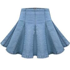 Denim Pleated Skirts for Women | eBay