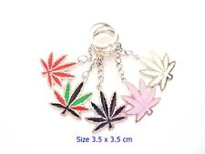 Bike Car key ring keychain Colorful Cannabis Marijuana Leaf Home