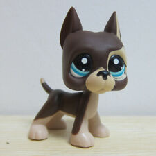 Littlest Pet Shop LPS Animals #817 Dot Eye Brown Chocolate Great Dane Dog Toy