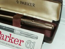 PARKER 61 PRESIDENTIAL FOUNTAIN PEN. 9CT SOLID GOLD. CASED. EXCELLENT CONDITION