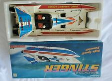 Turbo Charged V-8 Power Stinger Radio Controlled Battery Wave Boat ( 2 people )
