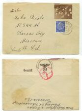 1940 Hamburg Germany WWII censored cover to Missouri