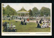 Glos Gloucestershire CHELTENHAM Montpellier Gardens Concert music 1905 PPC