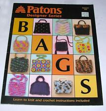 2004 PATONS DESIGNER CRAFT HOW TO SERIES EASY TO KNIT & CROCHET HANDBAGS, PURSES
