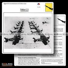 #111.17 FOKKER C X - Fiche Avion Airplane Card