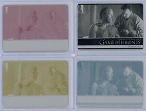 Game of Thrones Season 7 Stormborn Printing Plate Set Samwell Tarly & Ser Jorah