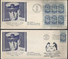 US 1935 LITTLE AMERICA ANTARCTICA COVER ADMIRAL BYRD EXPEDITION IMPERF S/S IMPER