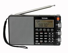 Used Tecsun PL880 PLL Dual Conversion AM FM Shortwave Portable Radio - Black
