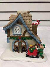 PartyLite P0269 Santa's Workshop Christmas House with Elves