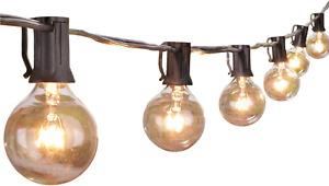 Outdoor String Light 50Feet G40 Globe Patio Lights with 52 Edison Glass Bulbs(2