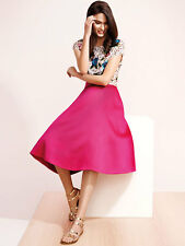 NEW COAST CORO HOT PINK A-LINE PROM MIDI PARTY FLIPPY SKIRT UK 16 EU 44 US 12
