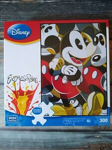 """Disney Expressions 300 Piece Mousing Around Puzzle Mickey Mouse 19"""" x 27"""" MEGA"""