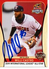 Willi Castro 2019 Toledo Mud Hens Triple A All Star Game Autographed Signed Card