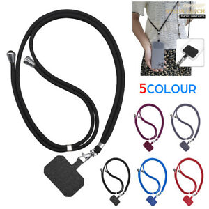 Universal Mobile Phone Lanyard Adjustable Hanging Neck Strap With Patch Fashion