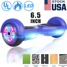 6.5'' Electric Hooverboard Balancing Led Scooter 2-Wheel Scooters Blue New nobag