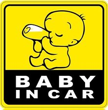 BABY IN CAR Cute Cool Baby Vinyl Reflective Car Decal Sticker