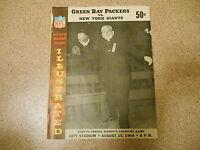 Old Vintage 1964 Program Green Bay Packers New York Giants NFL City Stadium Aug.