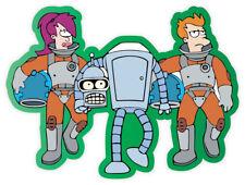 "Futurama Leela Bender Philip sticker decal 5"" x 4"""