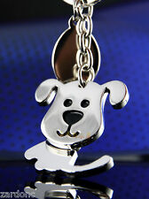 Adorable Spinning Dog Keychain Key Chain Ring Keyring Key Fob Funny Gift