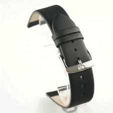 Di Modell Nappa Wapro Negro Correa de reloj: Impermeable: todos los tamaños 6mm - 24mm (P5)