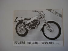advertising Pubblicità 1978 MOTO SWM TL 125 TRIAL