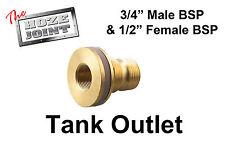"""Tank Outlet - 3/4"""" BSP Male Thread x 1/2"""" BSP Female Thread - DIY"""