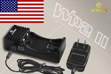 USA SELLER * XTAR WP2 II 18650 18700 16340 RCR123 Battery Charger * NEWEST MODEL