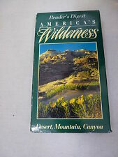 Reader's Digest America's Wilderness Desert, Mountain, Canyon (VHS, 1995)