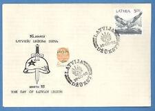 LATVIA LETTLAND FDC ENVELOPE SS LATVIESHU LEGIONAM 50