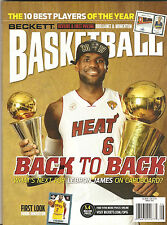 Beckett Basketball Magazine LeBron James Miami Heat Champs on cover August 2013