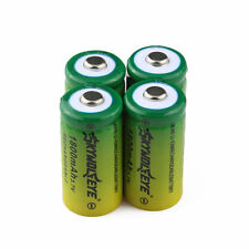 4pcs 1800Mah Li-ion 16340 CR123A Rechargeable Battery + 2x Charger USA