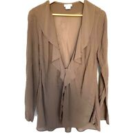 VINTAGE GHOST Asymmetric Blush WATERFALL JACKET - Top Cardigan Large