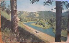 Montana Postcard I-90 Interstate Highway 1950s Missoula-Garrison Jct Ross Hall