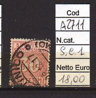FRANCOBOLLI ITALIA REGNO USATI S.C. N°1 (A2711)