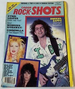 July 1987 CREEM ROCK-SHOTS~Dweezil Zappa,Cyndi Lauper,Cinderella,Duran Duran,etc