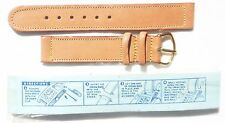 MINT 1944 US ARMY MEN'S TAN SWEATPROOF LEATHER WATCH BAND