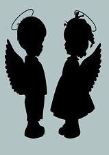 SHABBY CHIC VINTAGE STENCIL SCHABLONE ANGEL ENGEL XMAS RAPHAEL MÖBEL WAND TRUHE