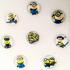 2x Despicable Minion cabochons 20mm glass domed flat back craft embellishments
